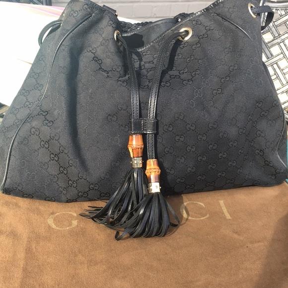 0e515d3dc142 Gucci Bags | Authentic Black Drawstring Purse | Poshmark